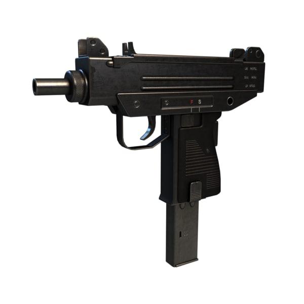 micro-uzi israeli compact 3d model