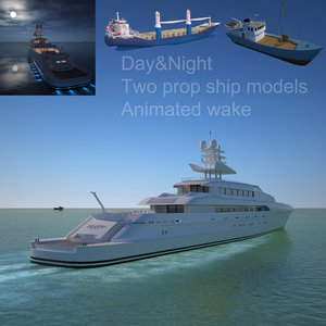3d super yacht silver