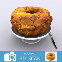 3d model scanned cake