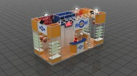 3d model fair stand - koza