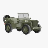 willys 1 4 3d model