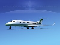 turbines challenger 850 bombardier 3d 3ds