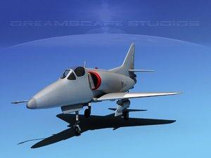 dwg skyhawk douglas a-4 a-4d