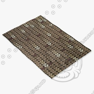 3d model of capel rugs 6024 300f