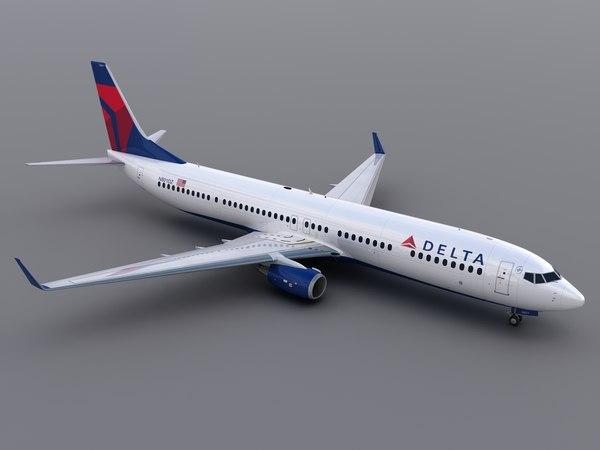 aircraft delta 3d model