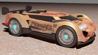 super racing car 3d model