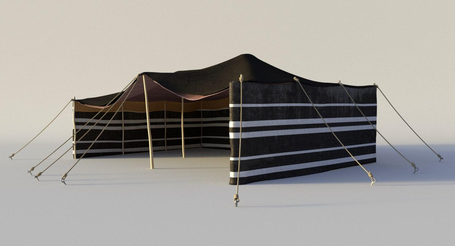 qatar arabian tent 3d model