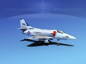 3d skyhawk douglas a-4 a-4d model