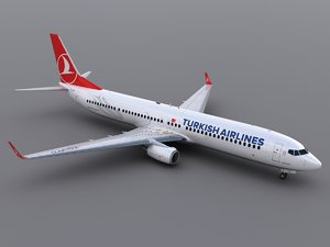 aircraft turkish airlines 3d max