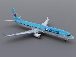 3ds max aircraft korean air
