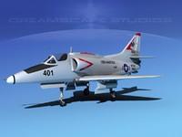 3ds skyhawk douglas a-4 a-4g