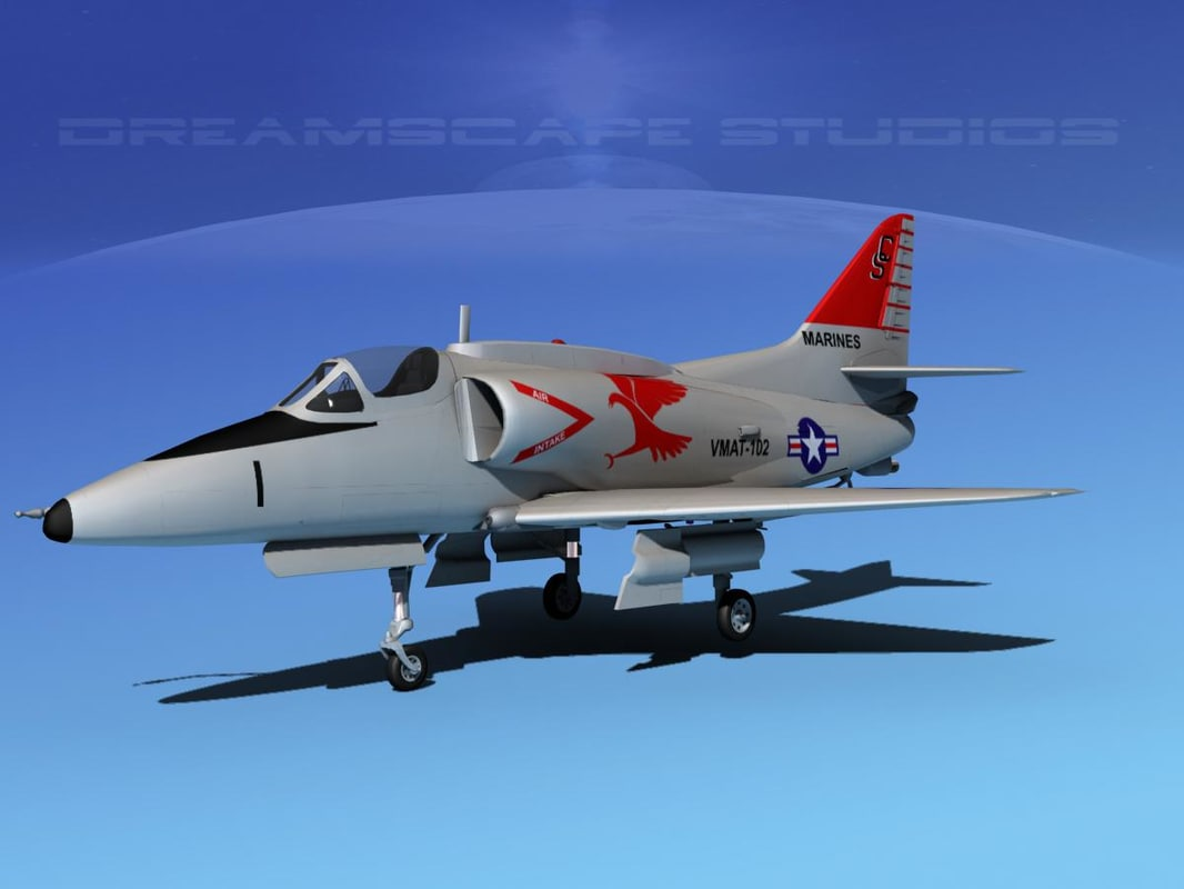 3d model skyhawk douglas a-4 a-4g