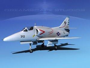 3d skyhawk douglas a-4 a-4g