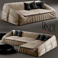 3d model sofa divan gamma