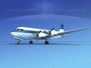 3d 3ds propellers douglas dc-6 transport