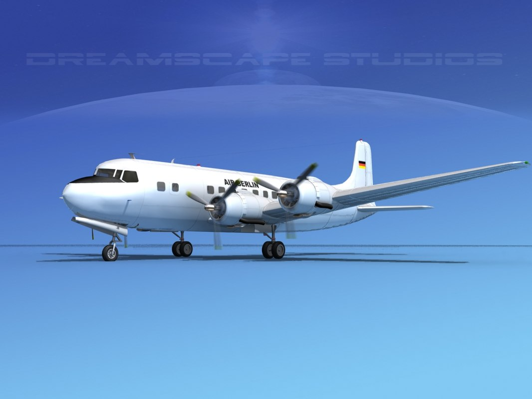 propellers douglas dc-6 air 3d model