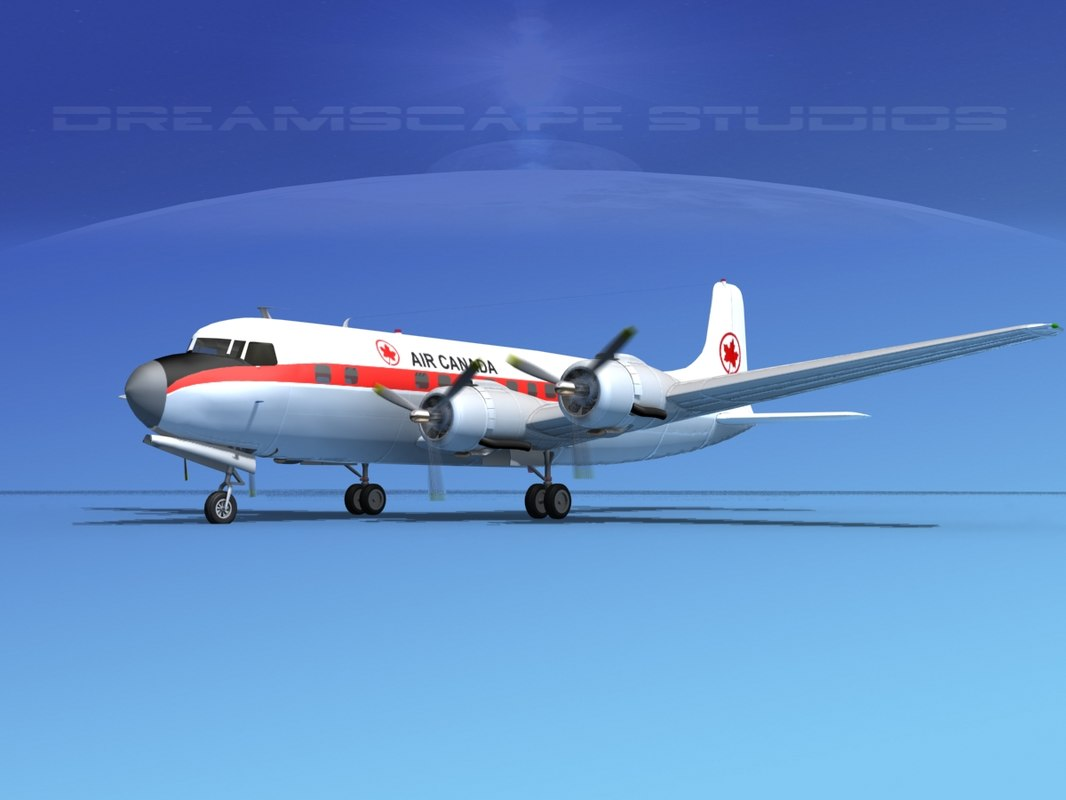 3d model propellers douglas dc-6 air