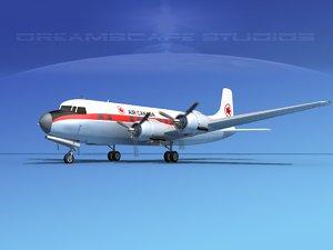 3d model propellers douglas dc-6 air