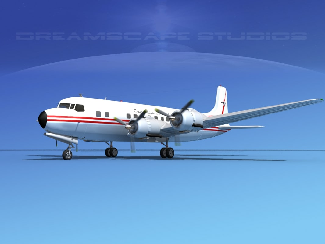 propellers douglas dc-6 3d max