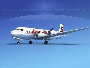 propellers douglas dc-6 airliner 3d 3ds