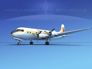 3d model of propellers douglas dc-6