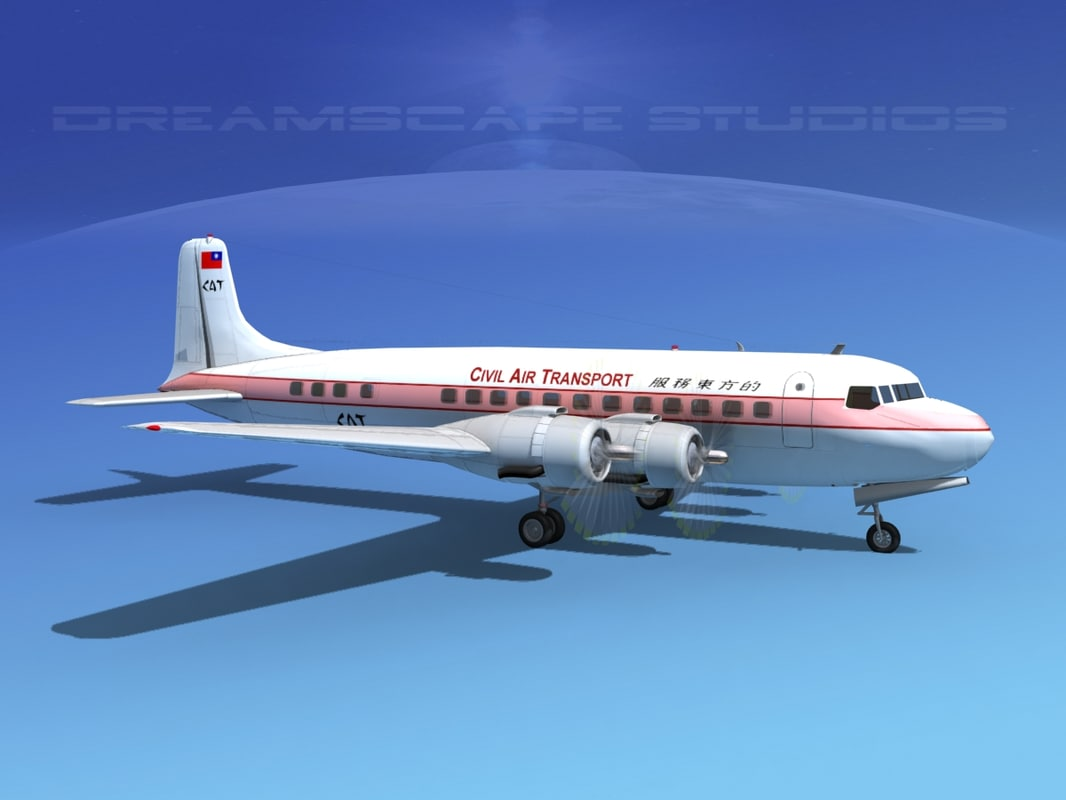 dxf propellers douglas dc-6 transport