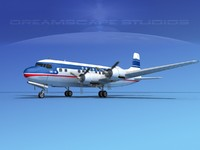 propellers douglas dc-6 airliner 3d model
