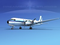 3d propellers douglas dc-6 airliner model