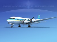 3d propellers douglas dc-6 model