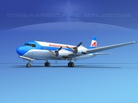 3d model propellers douglas dc-6 commercial cargo