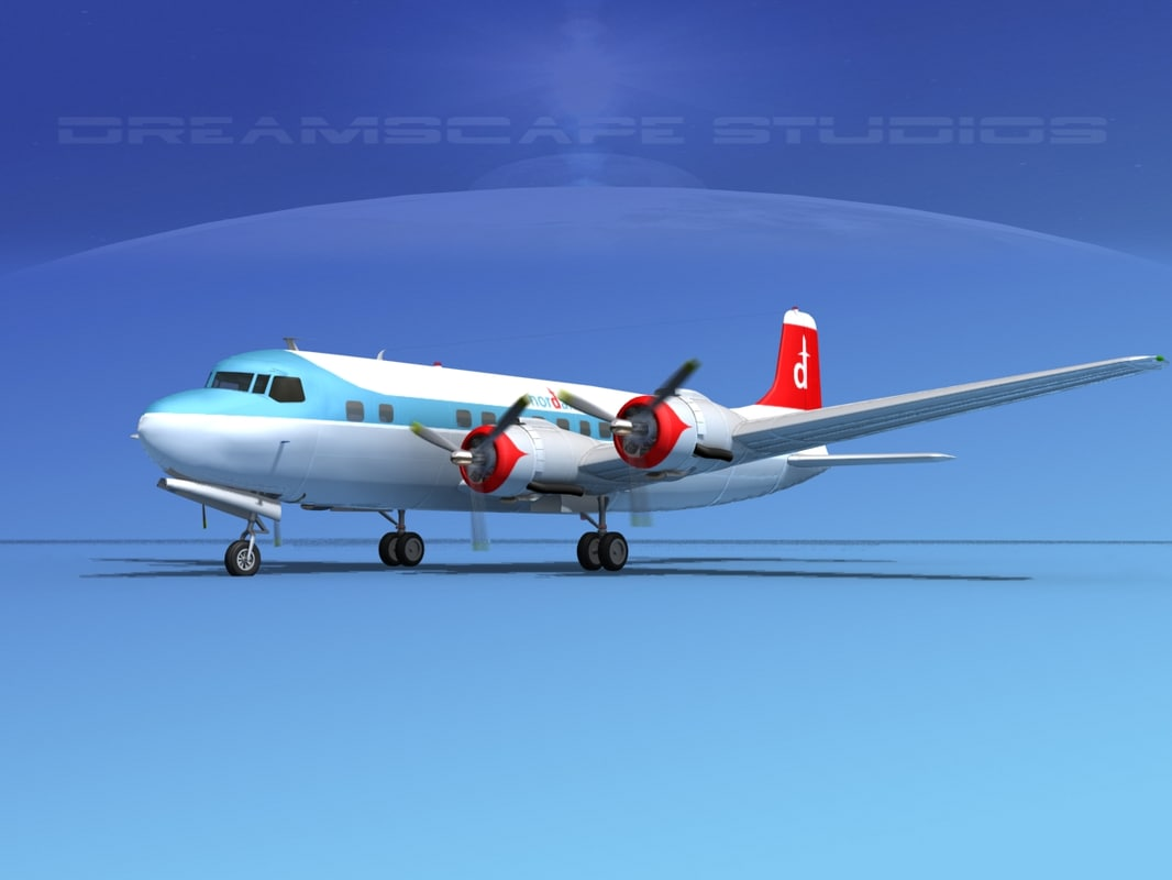 3d model propellers douglas dc-6