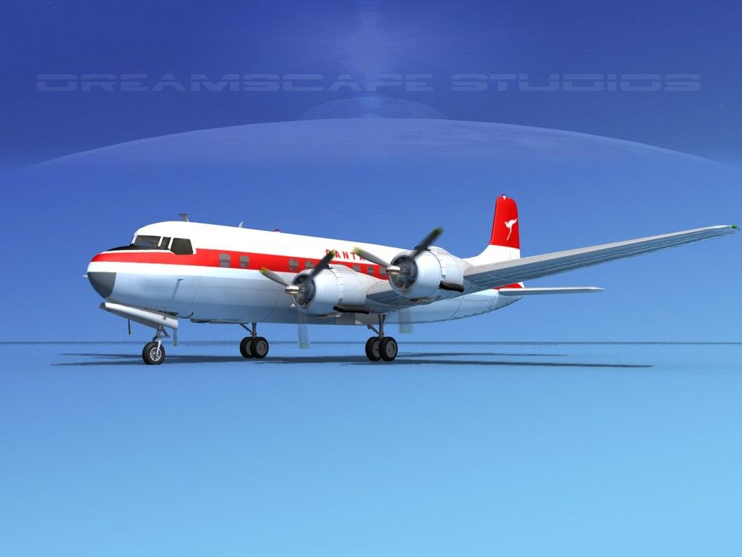 3d model propellers douglas dc-6