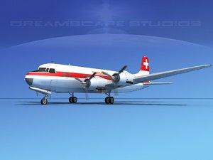 propellers douglas dc-6 3d lwo