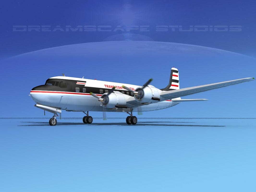 propellers douglas dc-6 3d 3ds
