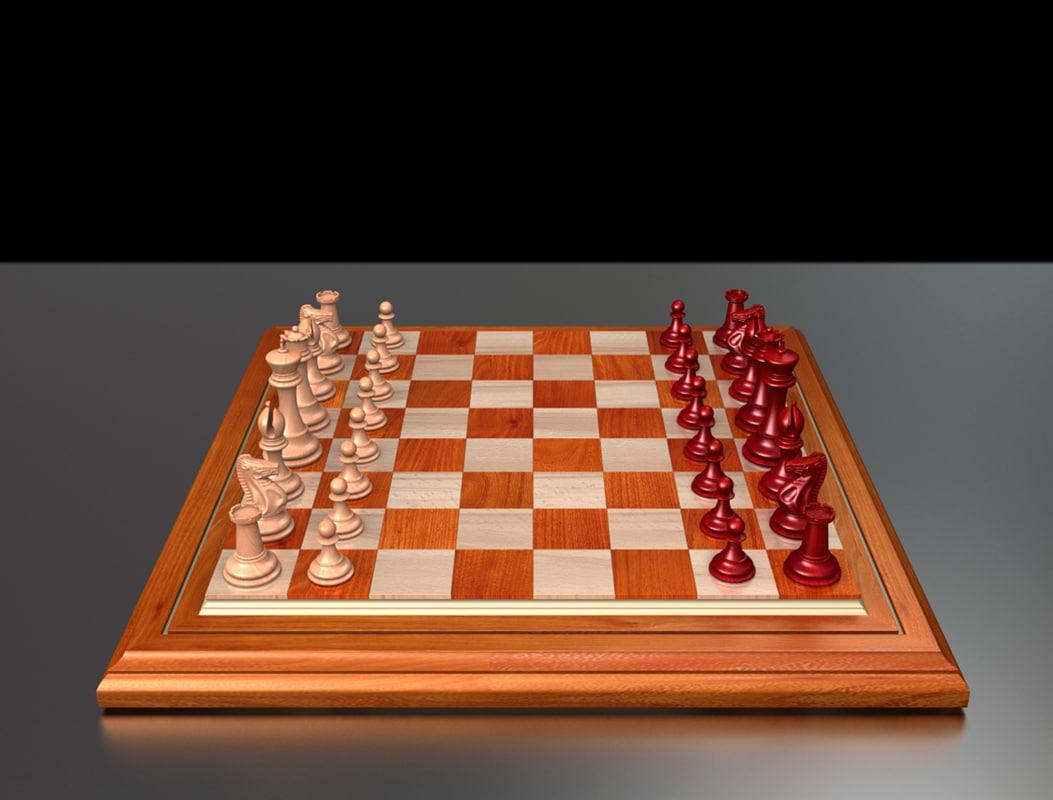 3d staunton chess set