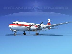 3d propellers douglas dc-6 model