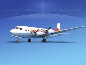 propellers douglas dc-6 airliner 3ds