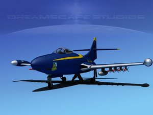 panther f9f jet fighter 3ds