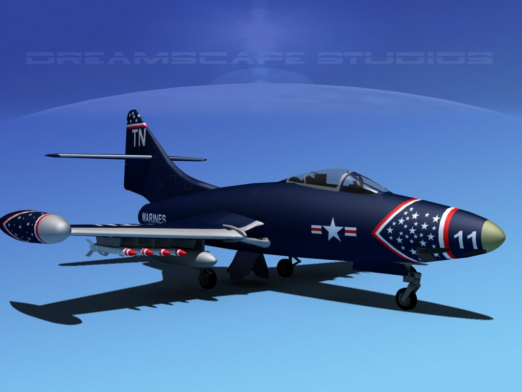 dwg panther f9f jet fighter