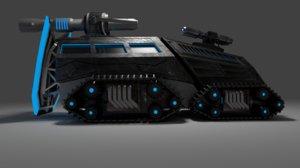 3d model futuristic tank
