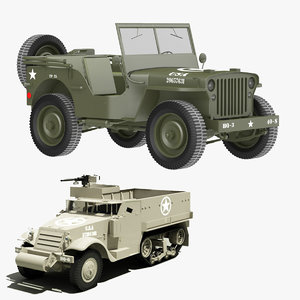 3ds willys m3a1 hafl track