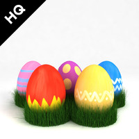 3d painted easter eggs