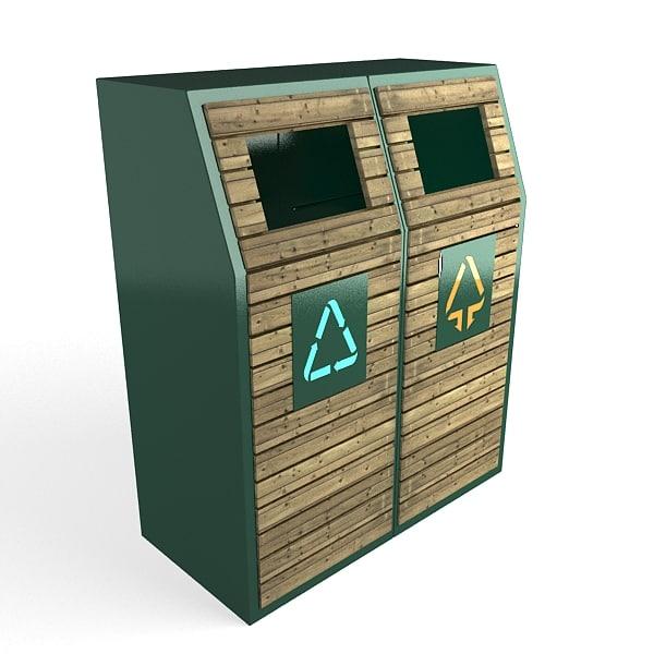 trash cans 3d model