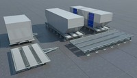 Airport palet and container dolly