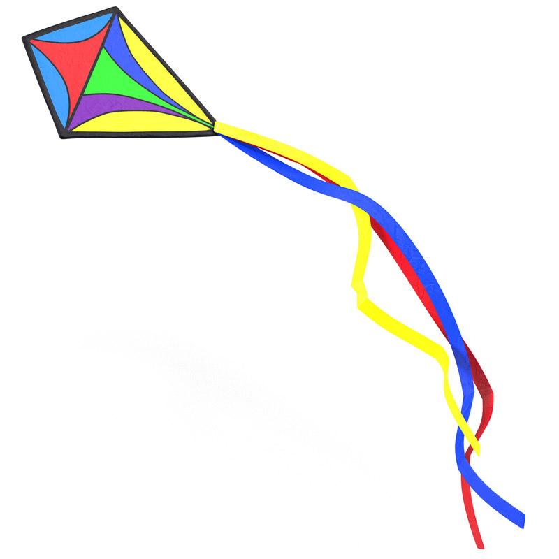 3d model kite 3