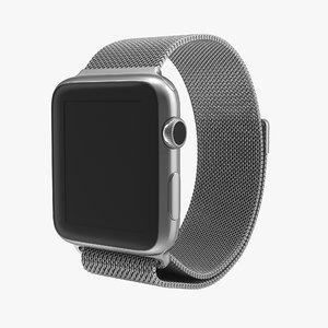 3d model apple watch milanese loop