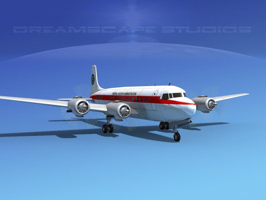 propellers douglas dc-6 3d model