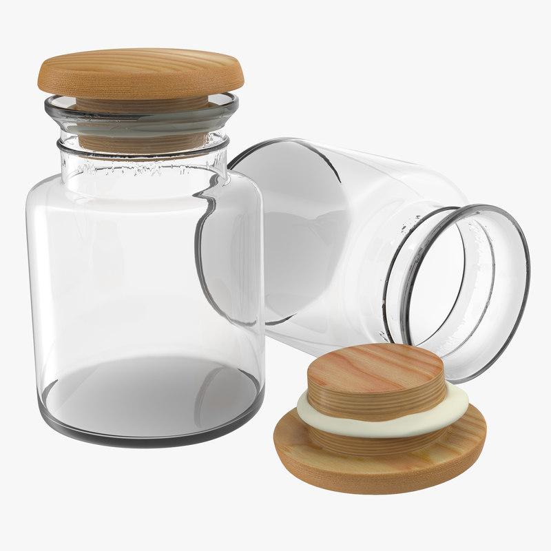 glass jar 3d model