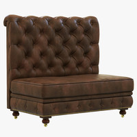 restoration hardware kensington leather 3d model