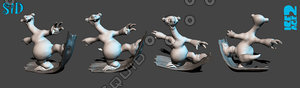 3d model of zbrush sid ice age